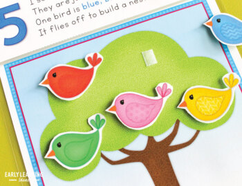 Spring Counting Activity | Bird Interactive Counting and Rhyming Book