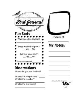 Bird Journal Page