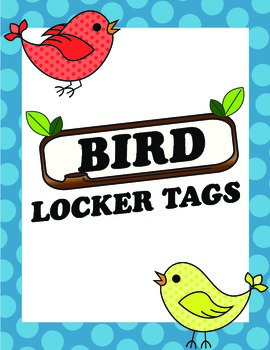 Bird Locker Tags