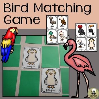 Bird Matching Game or Flashcard Fun