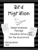 Bird Migration Pack: Simulation, Reading, & Exit Slip