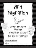 Bird Migration Pack: Simulation, Reading, & Exit Slip