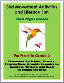 Bird Science with Movement Activities and Literacy  - Bird Unit