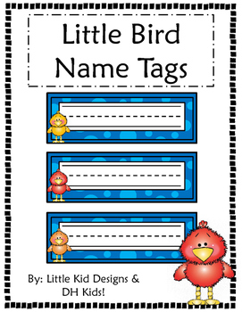 Bird Name Tags - Printable Name Tags