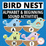 Birds Alphabet and Beginning Sound Matching Activities   Spring Literacy