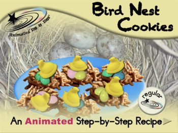 Bird Nest Cookies - Animated Step-by-Step Recipe - Regular