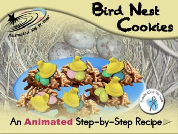 Bird Nest Cookies - Animated Step-by-Step Recipe - SymbolStix
