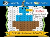 Bird Nest Counting On and Counting Back - Watch, Think, Co