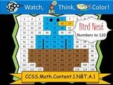 Bird Nest Hundreds Chart to 120 - Watch, Think, Color Myst