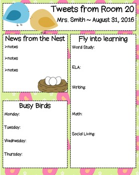 Bird Newsletter