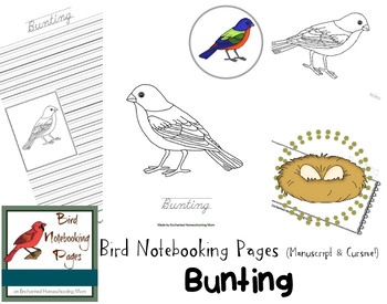 Bird Notebooking Pages Weekly Series Bunting Pack