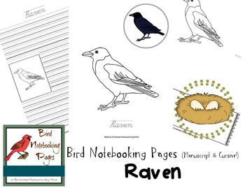 Bird Notebooking Pages Weekly Series Raven Pack