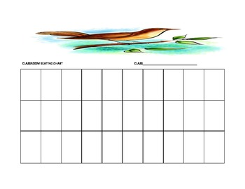 Bird Seating Chart Template for the Music Classroom
