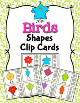 Bird Shapes Clip Cards