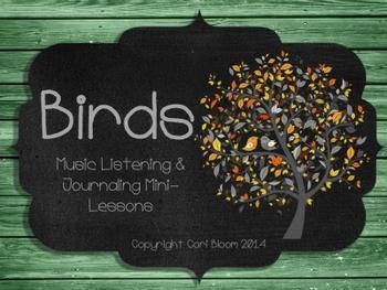 Bird Songs Music Listening FREEBIE