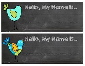 Bird Student Nametags