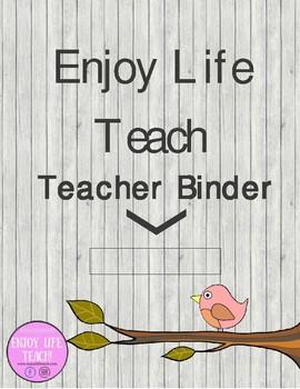 Bird Teacher Binder