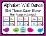 Bird Theme Alphabet Wall Cards with Zaner Bloser Manuscript & Cursive