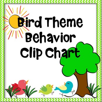 Bird Theme Behavior Clip Chart