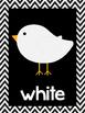 Bird Theme Chevron Color Posters