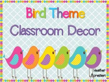 Classroom Decor Bird Worksheets Teaching Resources Tpt