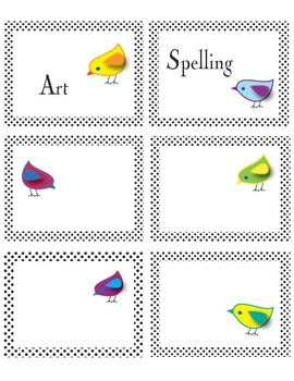 Bird Theme Classroom Labels