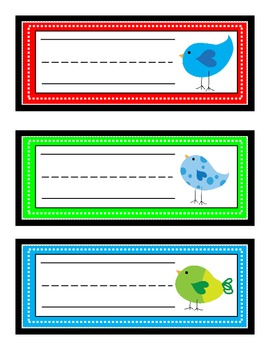 Bird Theme Classroom Pack