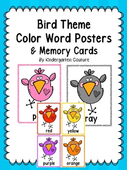 Bird Theme Color Posters & Memory Cards