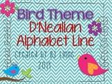 Bird Theme D'Nealian Alphabet Line