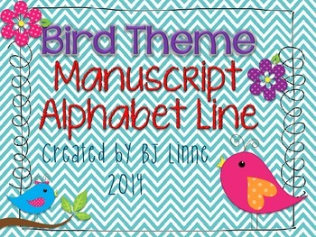 Bird Theme Manuscript Alphabet Line