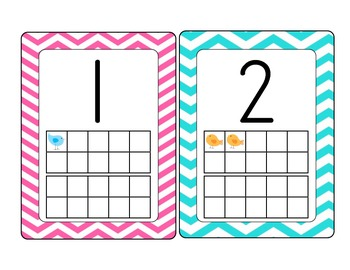 Bird Theme Number Cards with Ten Frame 1-20