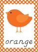 Bird Theme Polka Dot Color Posters - Modern Manuscript