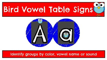 Bird Theme Vowel Signs