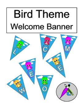 Bird Theme Welcome Banner