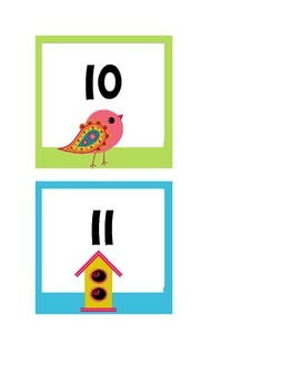 Bird Theme Word Wall and Numbers