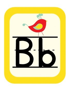 Bird Themed Classroom ABC Printables