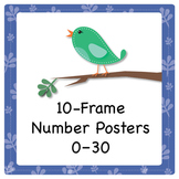 Bird Theme 10-Frame Number Posters, 0–30