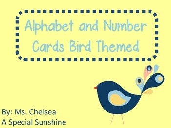 Bird Themed Alphabet and Number Signs
