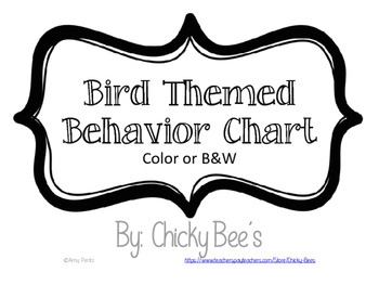 Bird Themed Behavior Chart
