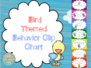 Bird Themed Behavior Clip Chart