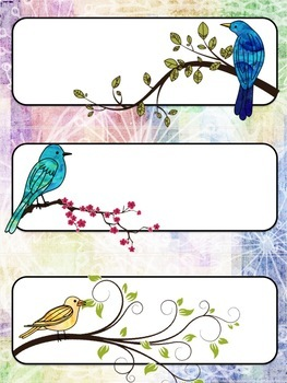 Bird Themed Classroom Decor:  Editable Labels and Posters