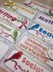 Bird Themed Classroom Decor:  Focus Wall Headers or Classroom Labels