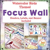Bird Themed Classroom Decor:  Focus Wall Headers or Classr