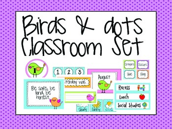 Bird Themed Classroom {Everything included!}