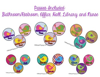 Bird-Themed Classroom Passes