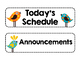 Bird Themed Classroom Schedule Cards