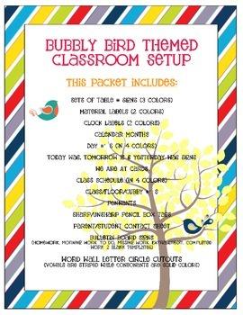 Bird Themed Classroom Bundle