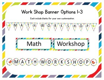 Bird Themed Classroom Small Group Math Center/ Workshop Setup