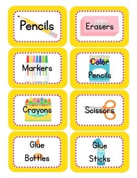 Bird Themed Classroom Supply Tags