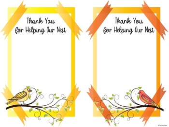 "Bird Themed ""Giving Tree""/ Wish List Donations:  Watercolor Birds Themed"